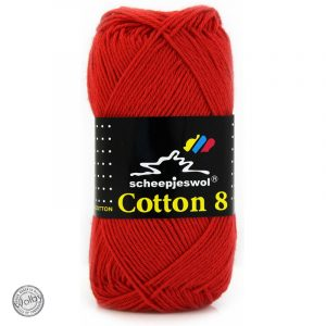 Cotton 8 - 510 - Rood