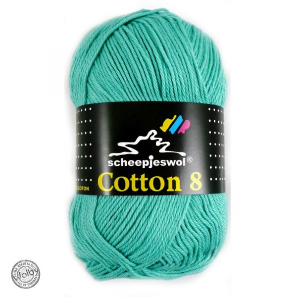 Cotton 8 – 665 – Mint Blauw