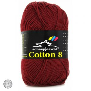 Cotton 8 - 717 - Bordeaux Rood