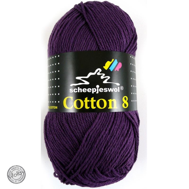 Cotton 8 - 721 - Donker Paars