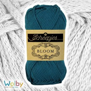 Bloom 410 - Chrysanthemum / Petrol Blauw