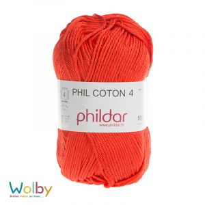 Coton 4 - 084 - Rouge / Rood