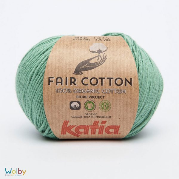 Katia Fair Cotton 17 - Verde Menta / Mint Groen