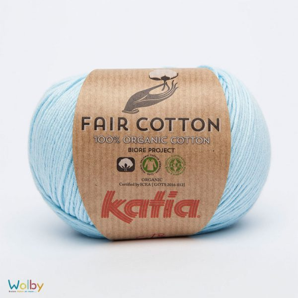 Katia Fair Cotton 08 - Celeste / Licht Blauw
