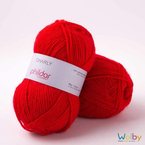 Phildar Charly 084 - Rouge / Rood