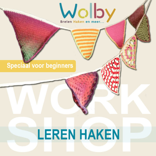 Workshop vlaggetjes haken voor beginners