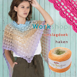 workshop omslagdoek haken